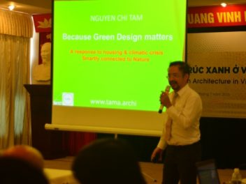 "2016 Guest Speaker of the course ""Green Architecture in Vietnam"""